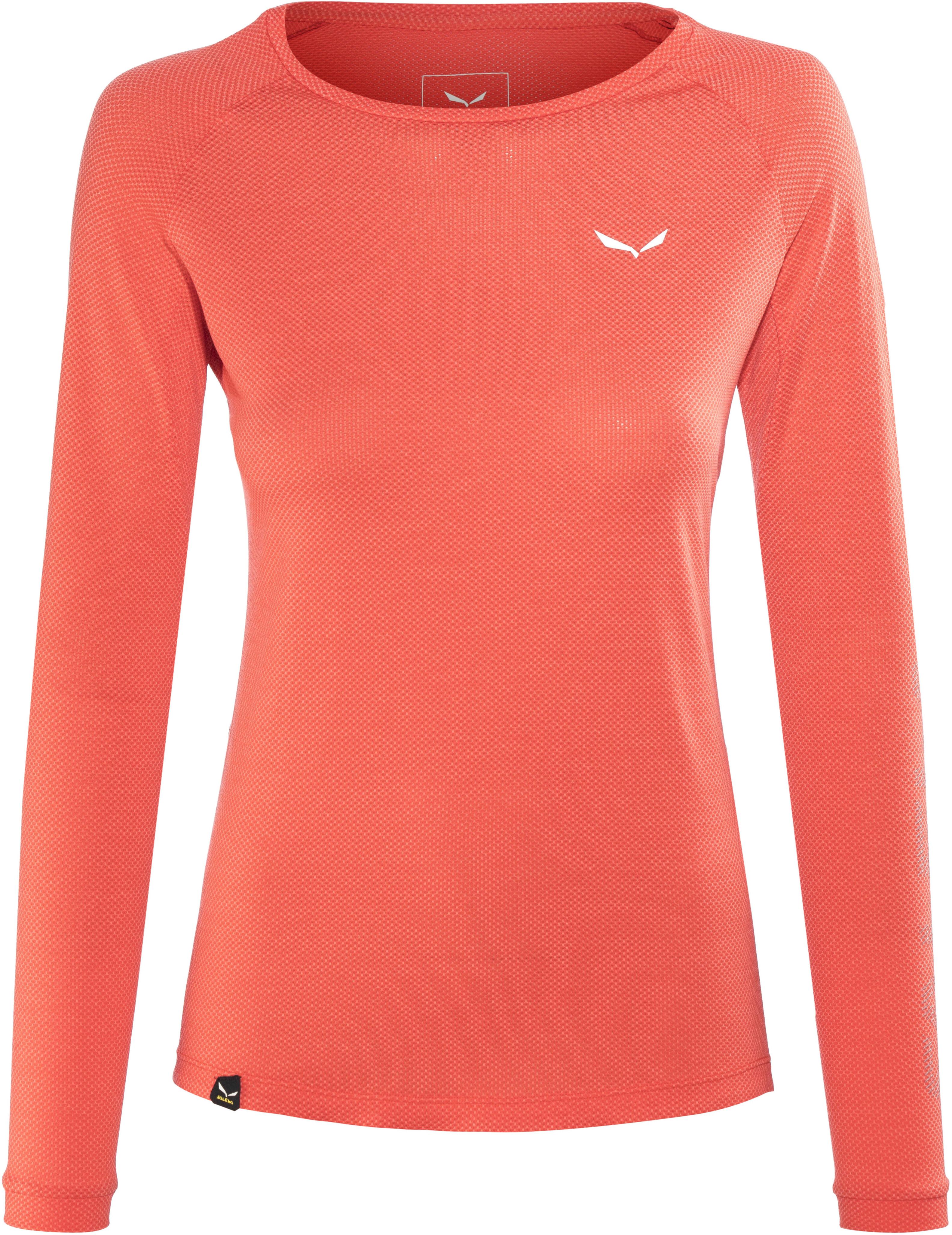 29f4cf19551 Salewa Pedroc Delta Dry - T-shirt manches longues Femme - rouge sur ...